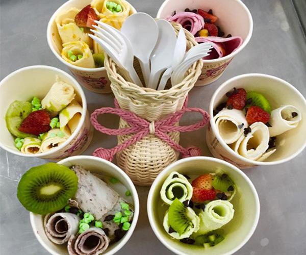 Nguyên liệu làm kem tươi, kem cứng, kem cuộn, kem chiên, kem xào, kem hoa hồng