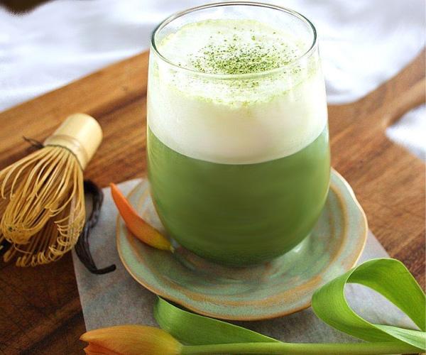 Matcha trà xanh với máy xay Vitamix